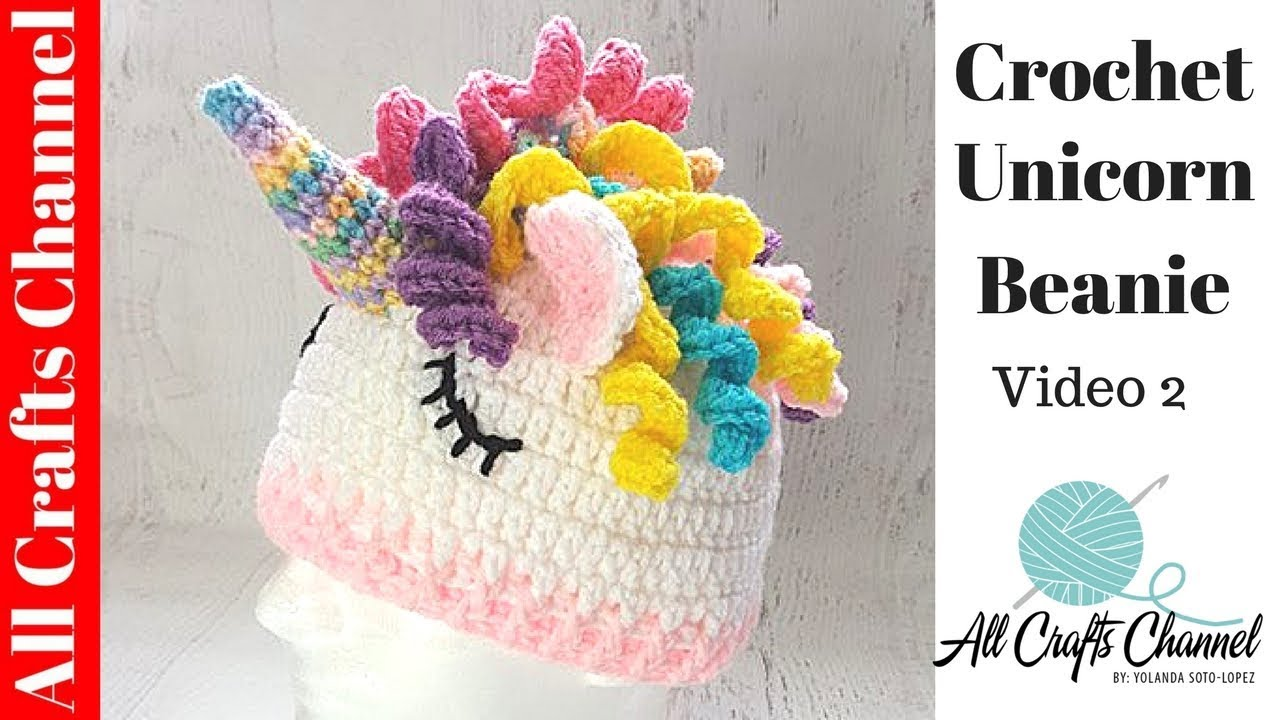 How to Crochet Unicorn Hat ( Video Two ) easy diy step-by-step - YouTube f193b712384
