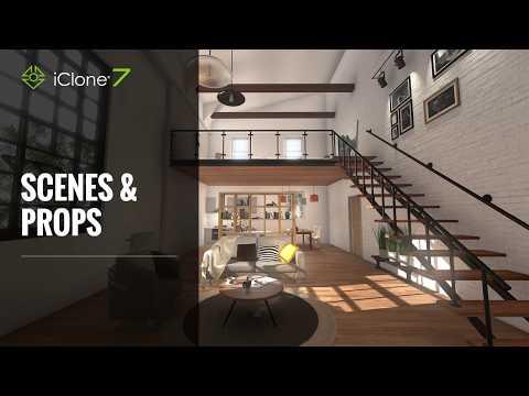 iClone 7 Functional Demo - Scenes & Props