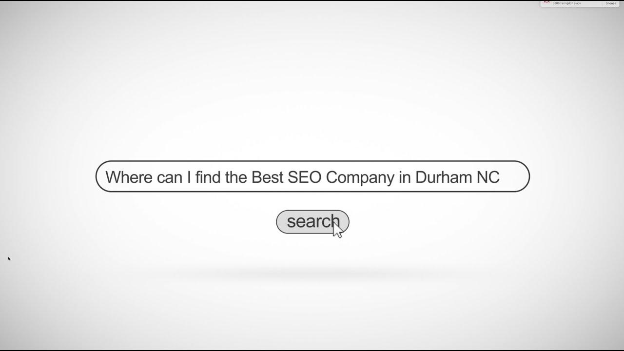 Durham Seo Services 919 714 8581 Web Design Digital Marketing Agency Youtube