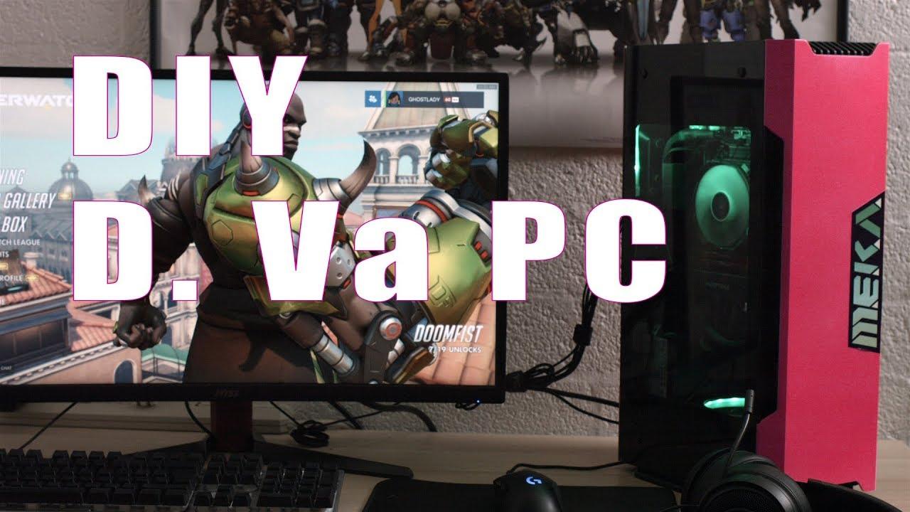 Diy Overwatch Dva Pc Build Youtube