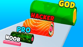 NOOB vs PRO vs HACKER vs GOD - Sushi Roll 3D