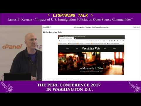 "Lightning Talk by James E. Keenan - ""Impact of U.S. Immigration Policies on Open Source Communities"""