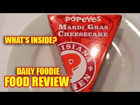 Mardi Gras Cheesecake Review - Popeyes