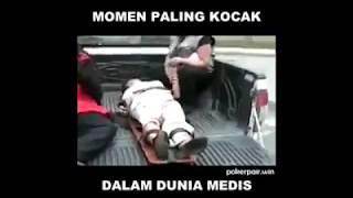 kejadian paling kocak tim medis saat berada dilapangan, rugi gak nonton
