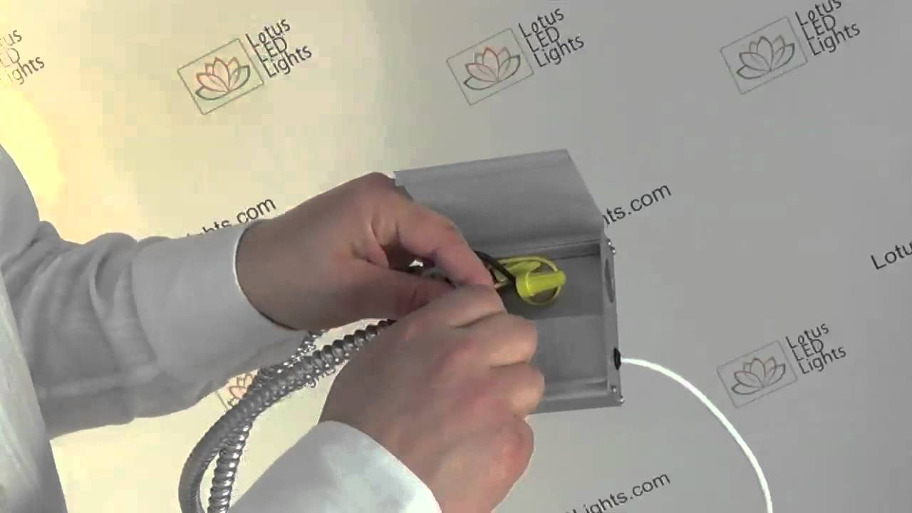 thin recessed led lights driver installation