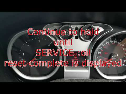 How to reset oil service for ford focus auto 2005 2006 2007 2008 2009 2010 2011 2012