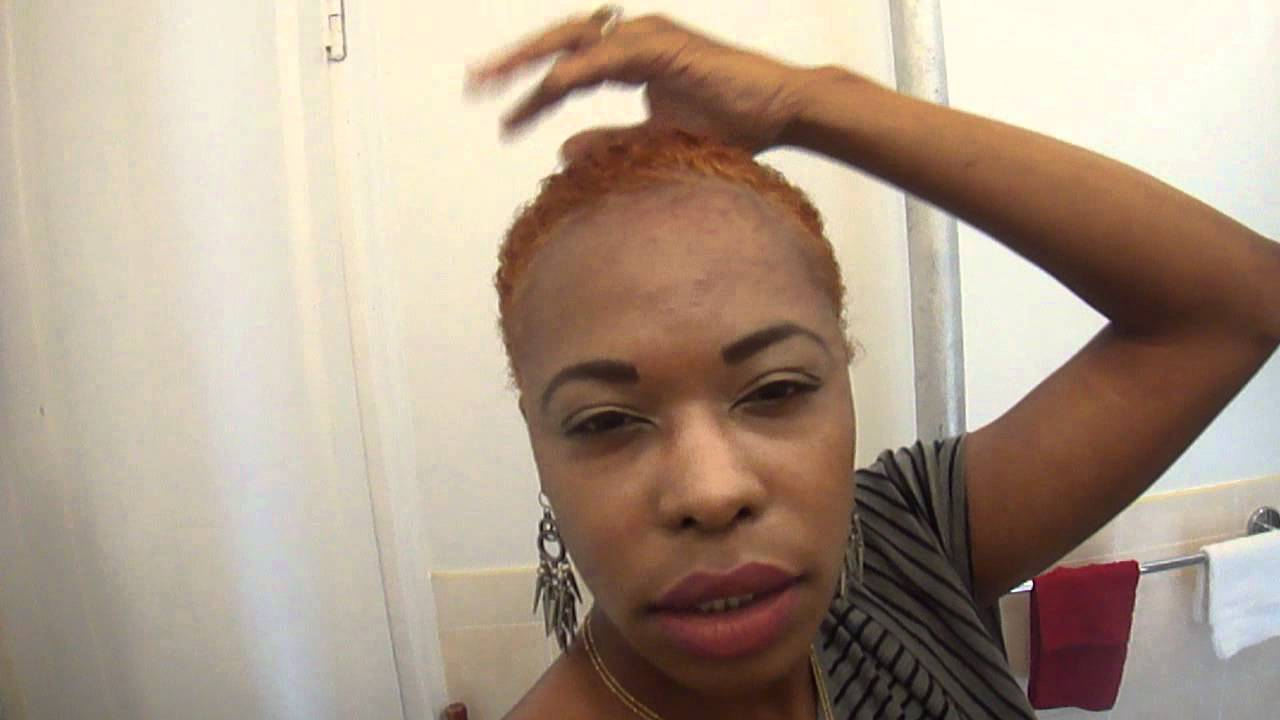 honey blonde color on big chop  YouTube - Big Chop Hairstyles