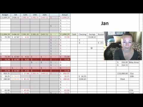 2018 Yearly Budget And Cash Flow Plan Free Budget Template Youtube