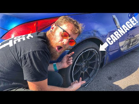 SMASHING My 350Z into a WALL Like an Idiot!!