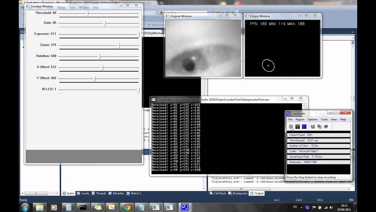 Eye Tracking with PS3 camera and OpenCV