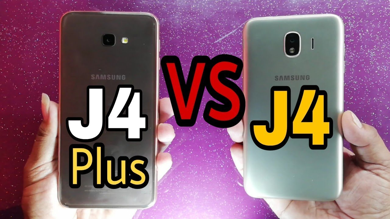 Samsung Galaxy J4 Plus Vs Galaxy J4 Speed Test Youtube