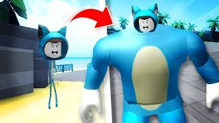 BABY MILO THE SKINNY NOW THE MORE STRONG 😍 ROBLOX FUN GAME