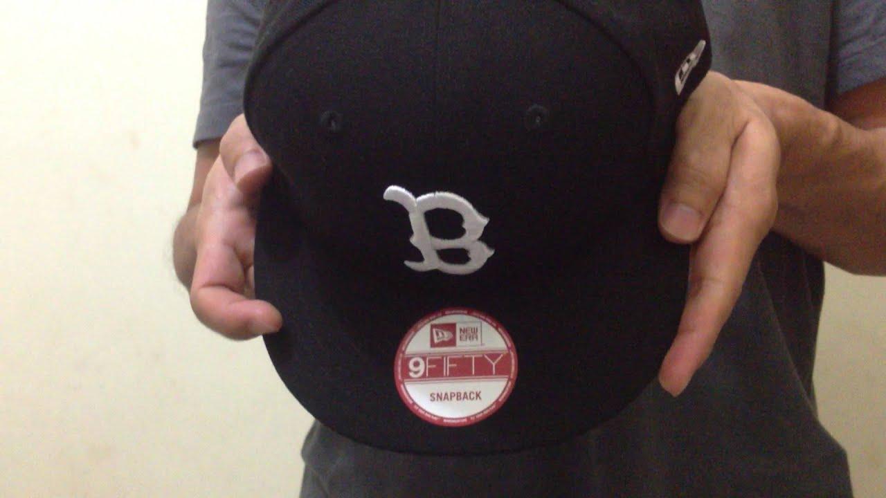 best service 6236b 02d26 New Era 9Fifty Snapback Black on White MLB Boston Red Sox. Cap Fan
