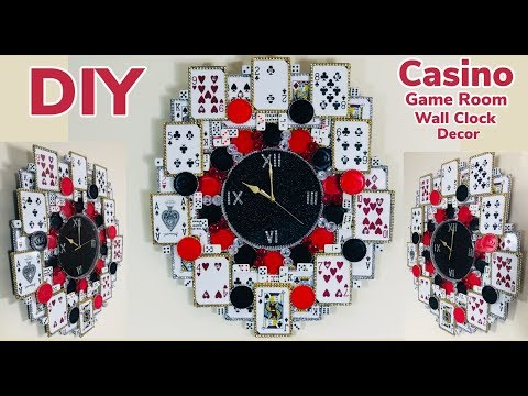 Dollar Tree DIY Casino Game Room Wall Clock Decor 2019. Good for father's/Mother's.