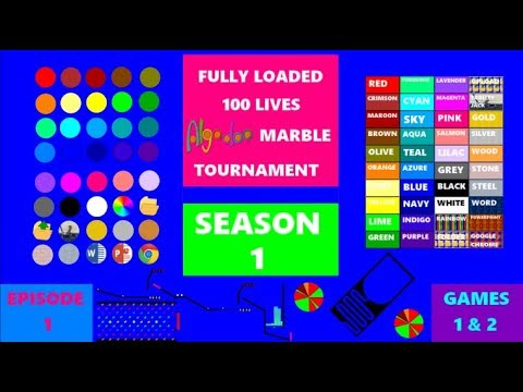 Download Fully Loaded 100 Lives Algodoo Marble Tournament Season 1 - Episode 1 [NEW AND IMPROVED]