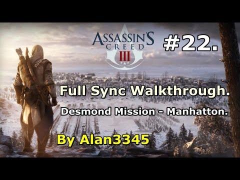22. AC3 Walkthrough - Desmond Mission - Manhatton (Full Sync) [HD]