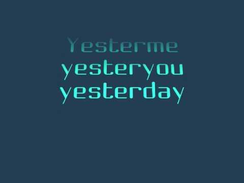 YESTERME, YESTERYOU, YESTERDAY - STEVIE WONDER