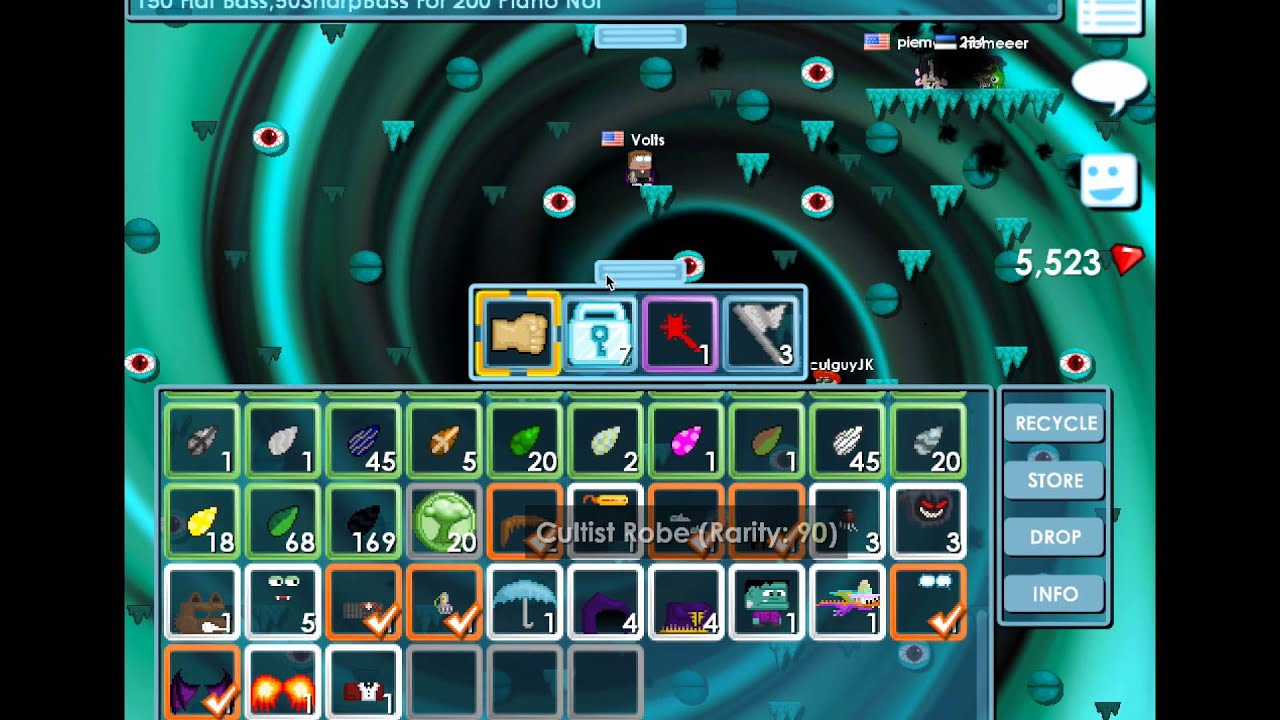 Buying all crystal items in growtopia!! Growtopia   Halloween 2014 - YouTube