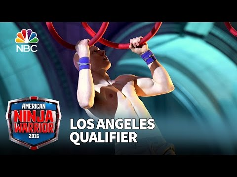 Kevin Bull at the Los Angeles Qualifier - American Ninja Warrior 2016