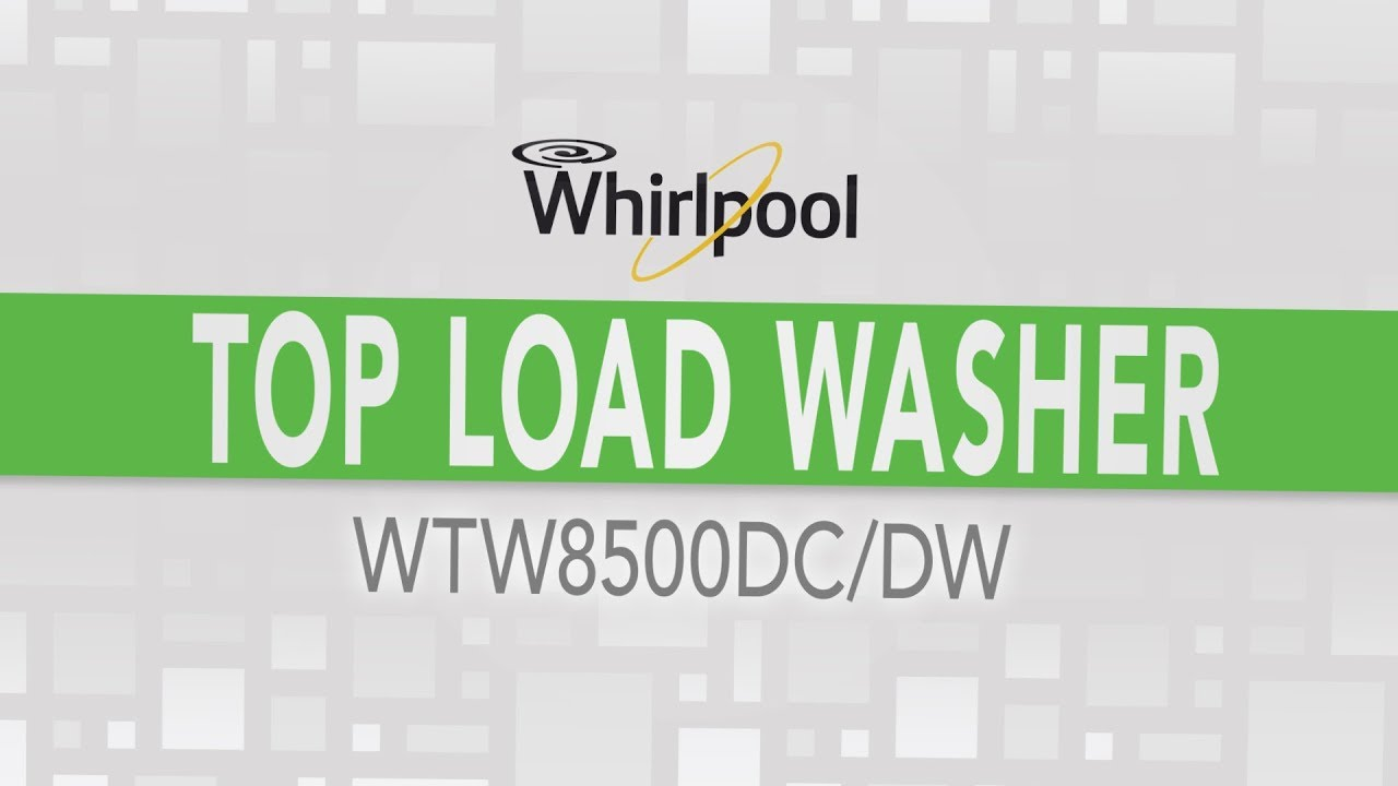 Whirlpool Cabrio High Efficiency Top Load Washer - WTW8500DC WTW8500DW