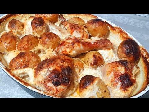 gratin-de-poulet-et-pommes-de-terre-crème-fraîche-غراتان-الدجاج-و-البطاطا-و-القشدة