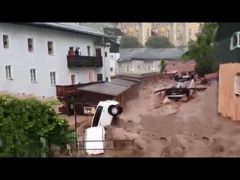 Apocalypse in Austria !! Devastating flash flood in Salzburg !