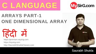 Lecture 11 Arrays in C Part 1 Hindi