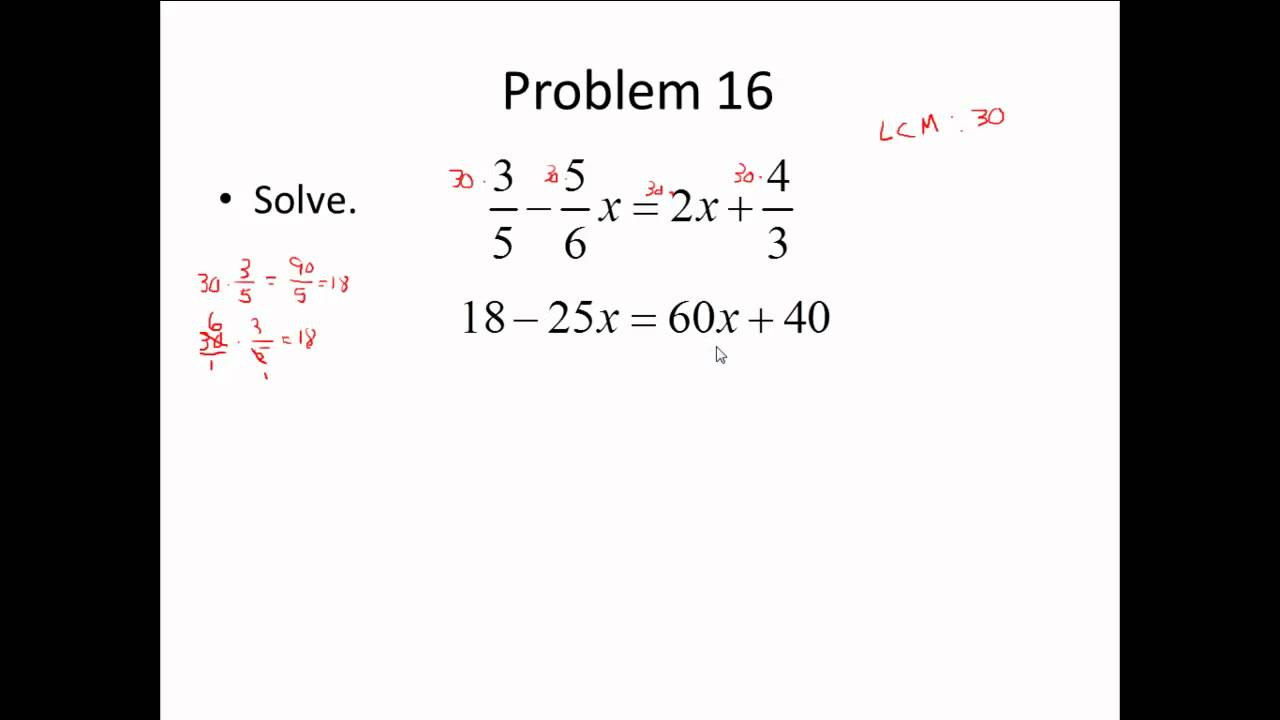 Elementary Algebra - Final Review Part 1 of 6 - YouTube