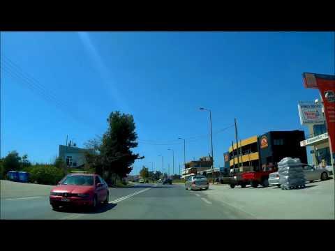 כביש Attica Region  85 בדרך לנמל תעופה  DRIVING Περιφέρεια Αττικής/Attica Region road 85 to air port