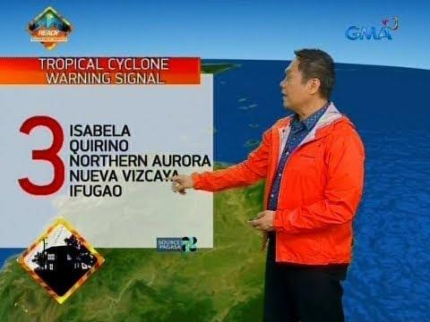 Bagyong Rosita, magla-landfall bukas sa Isabela-Aurora area