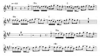 Conga de Gloria Estefan para saxofón