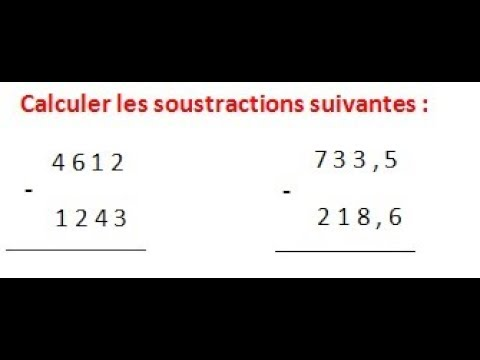 Maths 6ème - Les opérations : Addition Soustraction ...