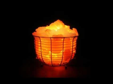 Himalayan Salt Lamp Basket Filled With Pink Salt (1301B) - YouTube