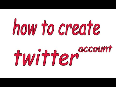 how to create twitter account - make twitter account in computer