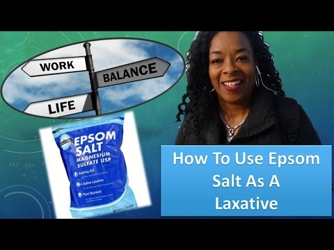 How To Use Epsom Salt As A Detox Laxative