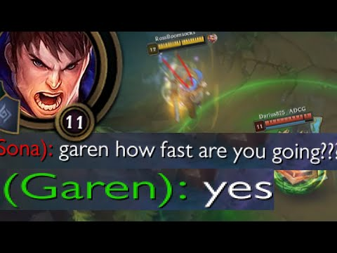 League of Legends but i&39;m jungle Garen who goes rly fast