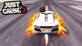 JUST CAUSE 3 CRAZY SPEED MOD CRASH TEST! (WHAT HAPPENS IS INSANE!) | SuperRebel