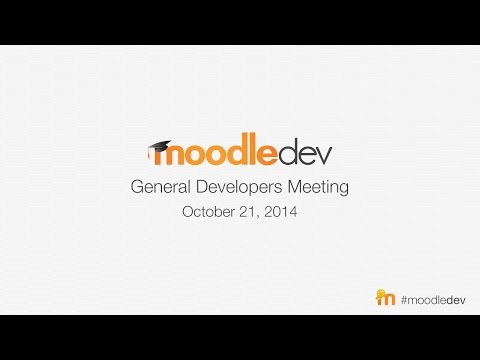 Moodle General Developer Meeting - October 2014
