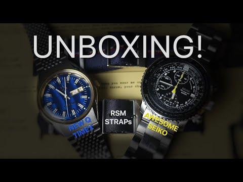 Unboxing! New Q Timex, Seiko Flight Alarm, RSM Straps!!!