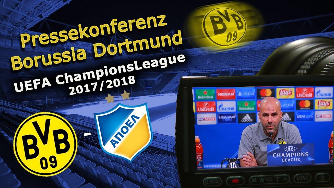 Borussia Dortmund - APOEL Nikosia: Pk mit Peter Bosz