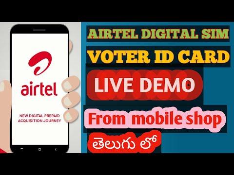 AIRTEL SIM CARD ACTIVATION | DIGITAL WITH VOTER ID CARD | TELUGU | BY TECH NAGIREDDY |