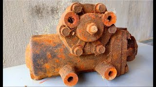 Restoration the cars old steering gearbox | Restore car rusty steering gear box | Reuse gear box