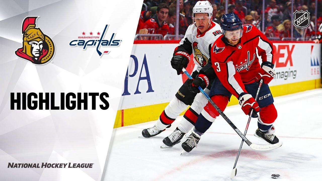 NHL Highlights | Senators @ Capitals 1/7/20
