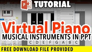 How to Create a Virtual Piano Keyboard in PowerPoint That Plays Notes   Tutorial + Download File