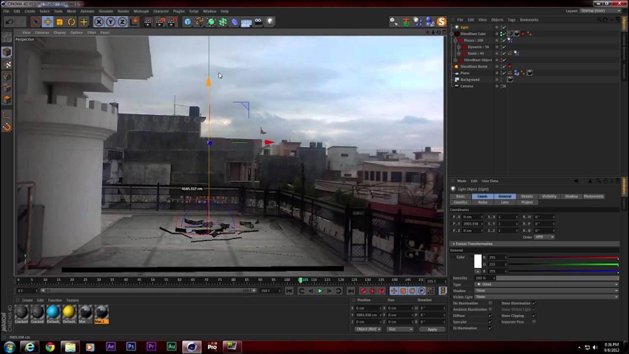 vfx test destruction tutorial nitroblast cinema 4d youtube. Black Bedroom Furniture Sets. Home Design Ideas
