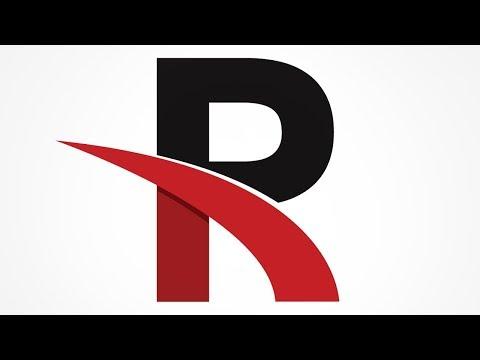 R Letter Logo Design in Illustrator | Tutorial