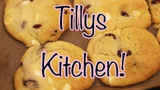Gooey White Chocolate And Cranberry Cookies Recipe | Tillys Kitchen