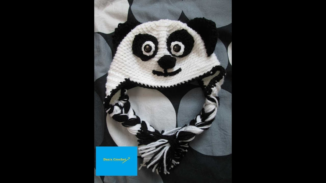 How To Crochet An Adult Panda Hat Part 1 Youtube