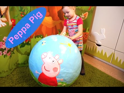Киндер Сюрприз СВИНКА ПЕППА Видео Peppa Pig Giant Egg Surprise - Peppa Pig Toys Не Катя