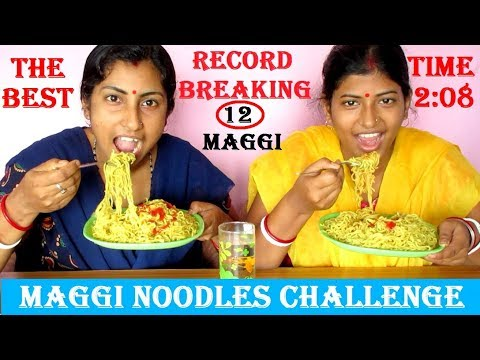 12 Maggi Noodles Eating Challenge | The Fastest Maggi Eaten Ever | Food Challenge India